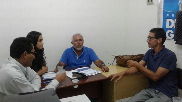 Reunião com o Prefeito Eraldo Cordeiro