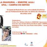 Aula Inaugural do Semestre Letivo 2020.1