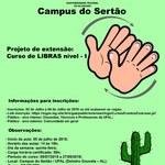 Curso de LIBRAS Básico nível – I no Campus do Sertão UFAL em Delmiro Gouveia – AL
