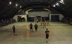 Ginásio de Esporte do bairro Novo local onde as partidas foram disputadas.